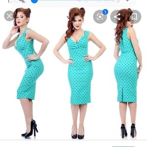 Steady clothing Diva polka dot pinup wiggle dress